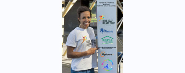 Dame Kelly Holmes laces up her trainers for Pickering Cancer Drop-in Centre